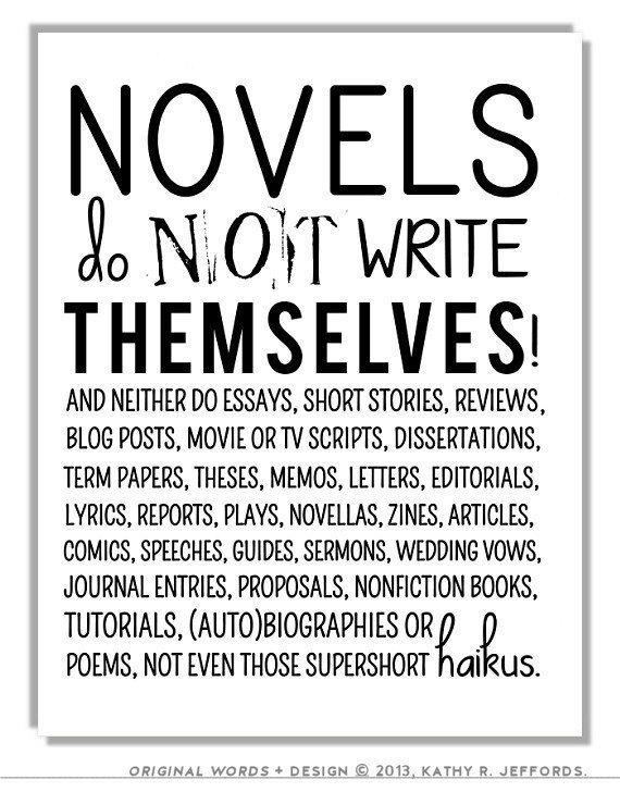 essays on novel writing